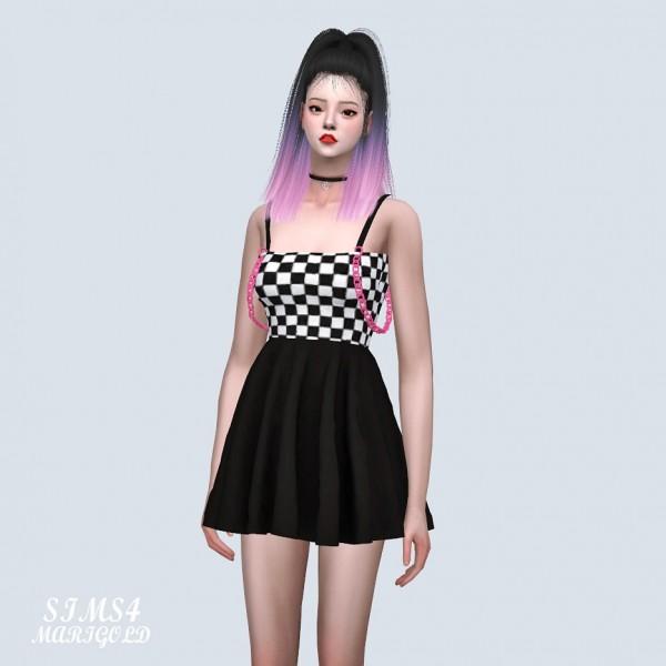 SIMS4 Marigold: Chain Strap Mini Dress