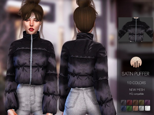 The Sims Resource: Satin Puffer BD132 by busra tr
