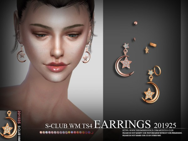 The Sims Resource: Earrings 201925 by S Club