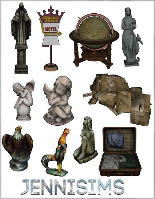 Jenni Sims: Decorative Statues Softly Falling