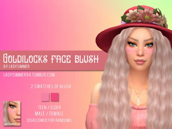 The Sims Resource: Goldilocks Face Blush by LadySimmer94