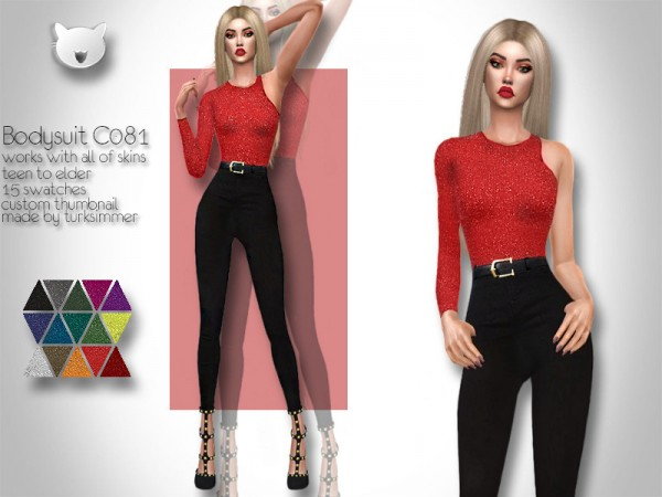 The Sims Resource: Bodysuit C081 by turksimmer