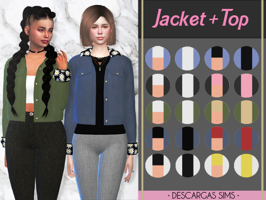 Descargas Sims: Jacket and Top