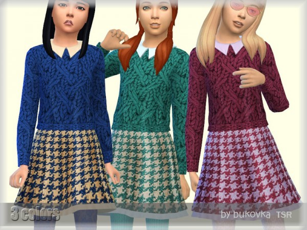 The Sims Resource: Dress with Sweater by bukovka