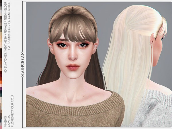 The Sims Resource: Camelia Hair by magpiesan