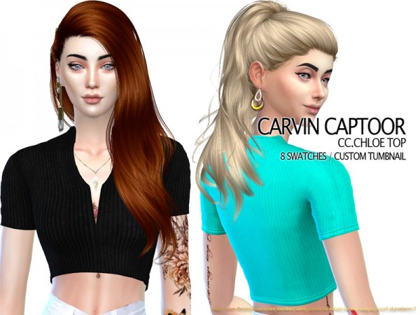 The Sims Models: Chloe Top by carvin captoor