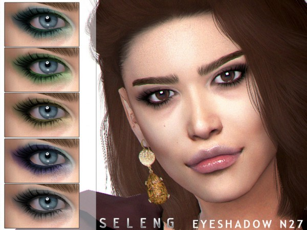 The Sims Resource: Eyeshadow N27 by Seleng