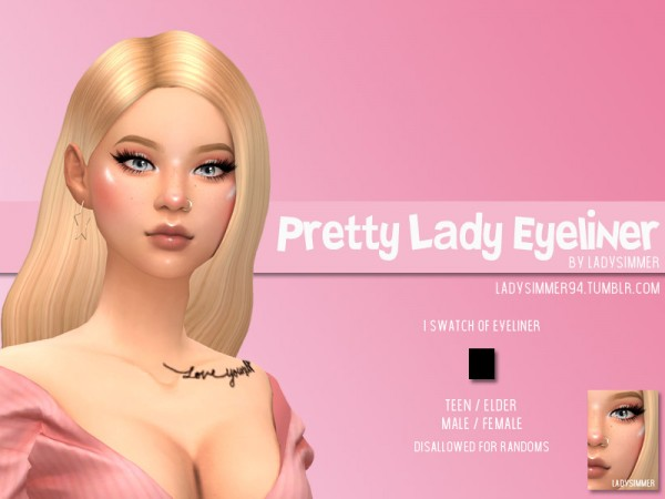 The Sims Resource: Pretty Lady Eyeliner by LadySimmer94