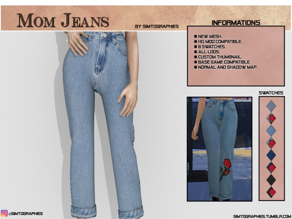 Simtographies: Mom Jeans