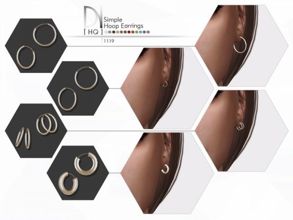 The Sims Resource: Simple Hoop Earrings by DarkNighTt