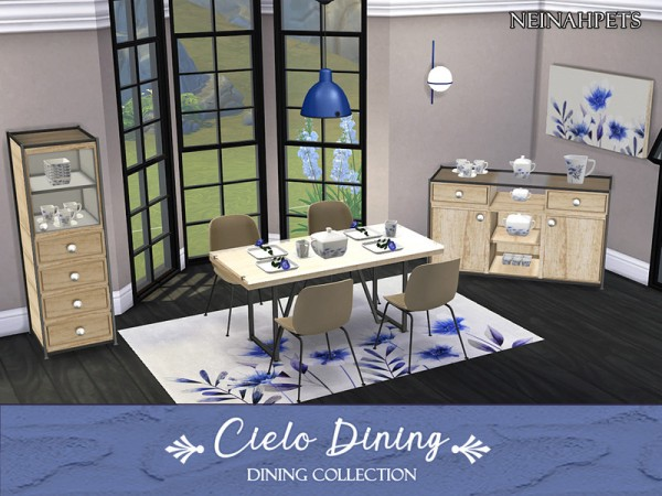 The Sims Resource: Cielo Dining Collection by neinahpets