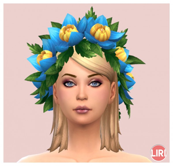 Mod The Sims: Flower Crown by Lierie