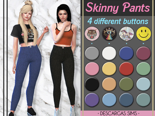 Descargas Sims: Skinny Pants