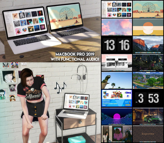 Descargas Sims: MacBook Pro 2019   With functional audio!