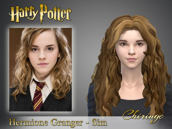 The Sims Resource: Hermione Granger from Harry Potter by chiringo chan