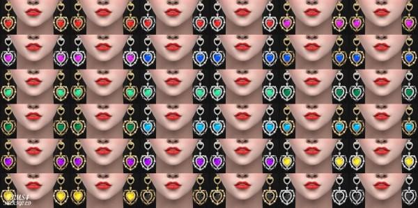 Sims 4 Marigold: 22 Heart Earring