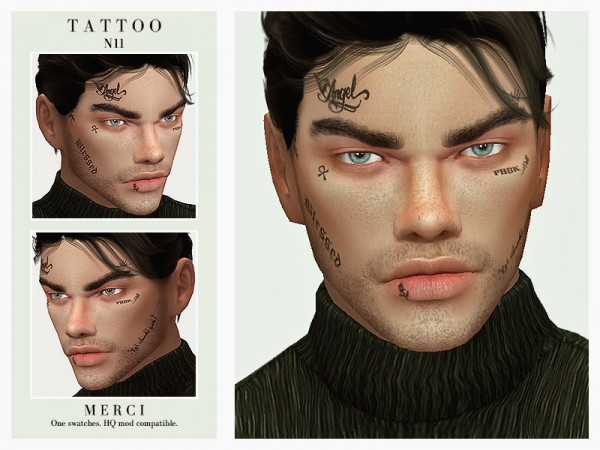 The Sims Resource: Tattoo N11 by Merci