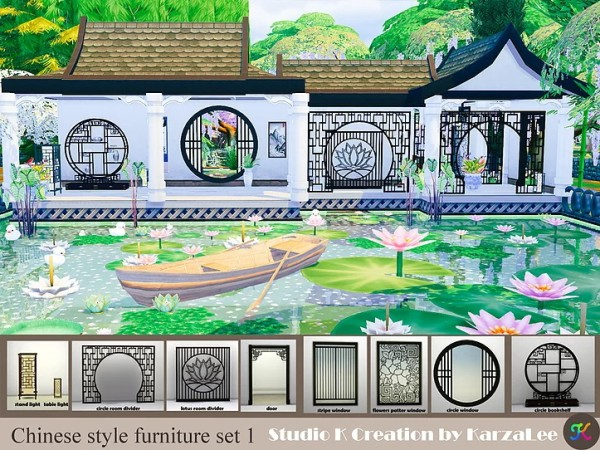 Studio K Creation: Chinese style furniture set 1