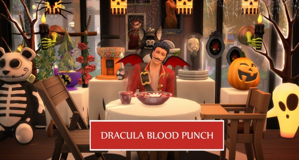 Mod The Sims: Dracula Blood Drinkable Punch by icemunmun