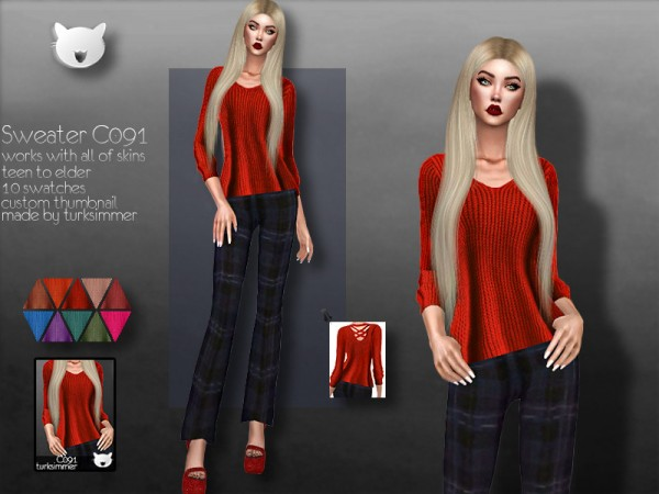 The Sims Resource: Sweater C091 by turksimmer