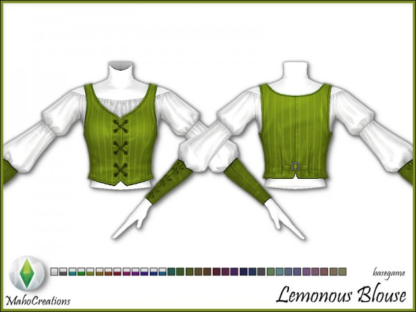 The Sims Resource: Blouse Lemonous by MahoCreations