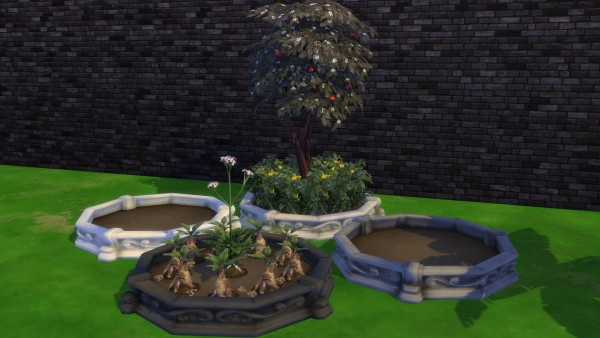Mod The Sims: Circle Planter box by Serinion