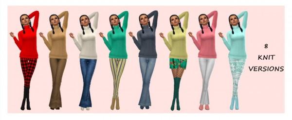 Sims 4 Sue: Turtleneck sweater 1 wool version