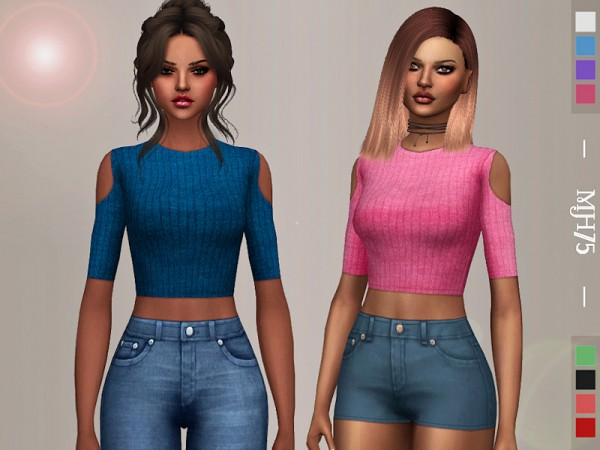 The Sims Resource: Elyana Top by Margeh 75