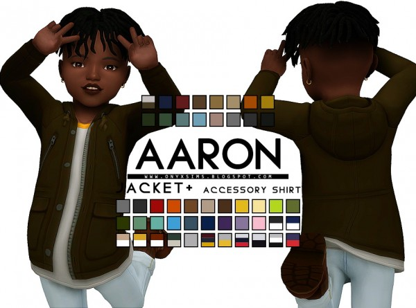Onyx Sims: Aaron Jacket and T Shirt Accessory