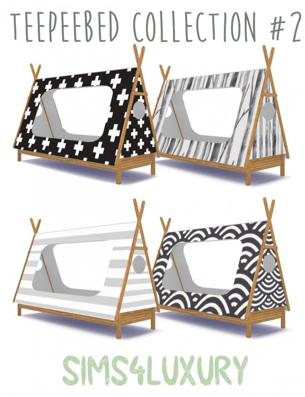 Sims4Luxury: Teepeebed Collection 2