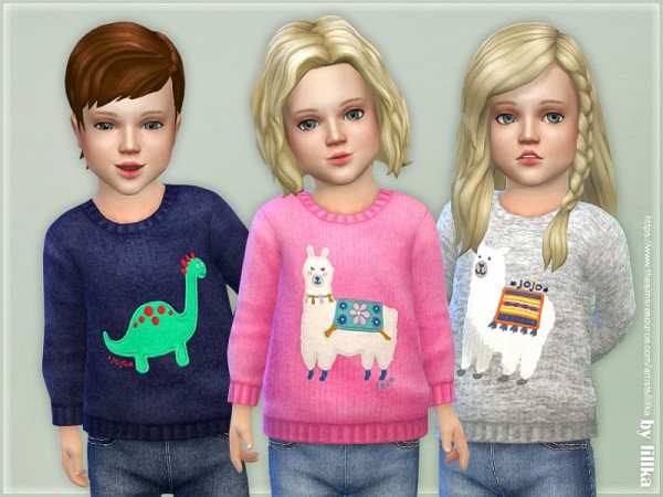 The Sims Resource: Cozy Animal Sweater 02 by lillka