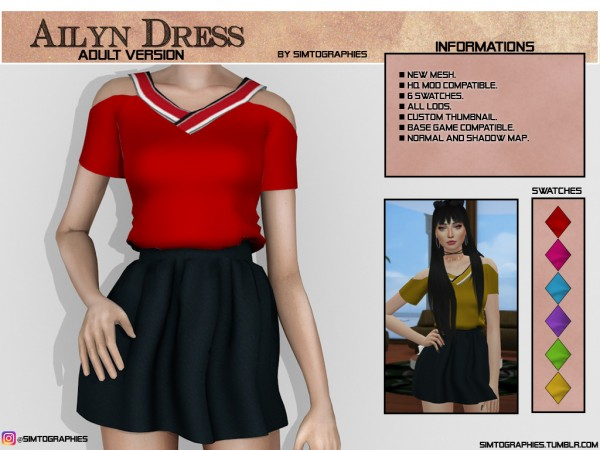 Simtographies: Ailyn Dress