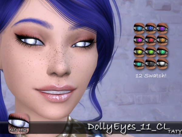 The Sims Resource: Dolly Eyes 11 by Taty