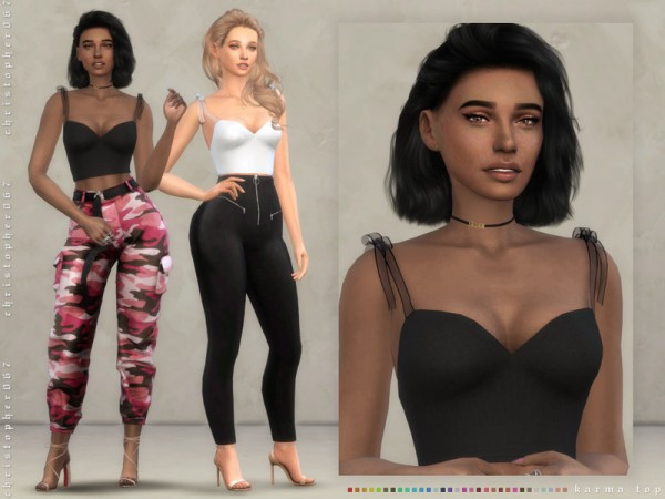 The Sims Resource: Karma Top by Christopher067