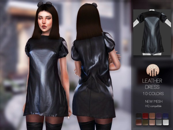 The Sims Resource: Leather Dress BD145 by busra tr