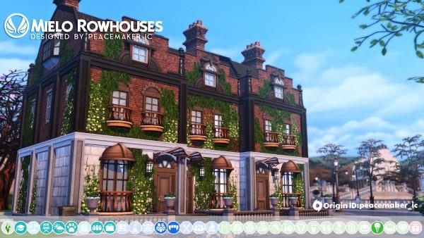 Simsational designs: Mielo Rowhouses