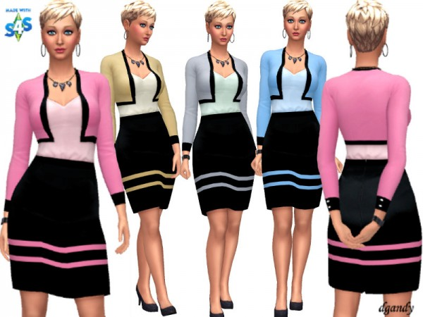 The Sims Resource: Skirt and Jacket 20191017 by dgandy