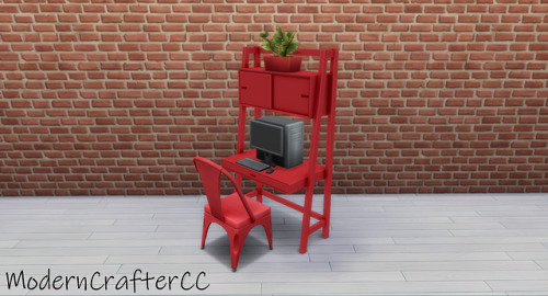 Modern Crafter: Desk with Cabinet Recolored