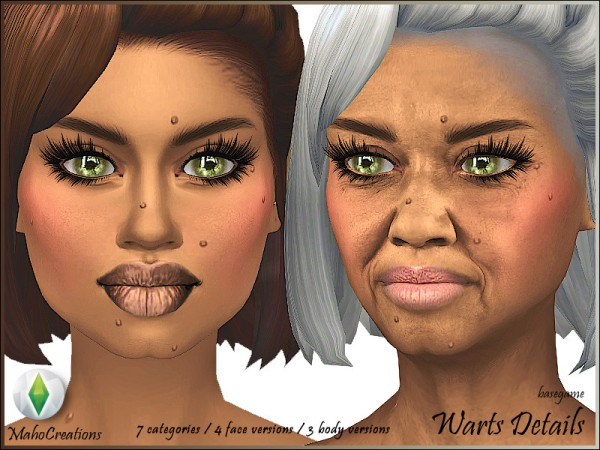 The Sims Resource: Warts Skindetail Set by MahoCreations