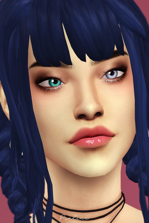 Praline Sims: Dazzling Light Eyes