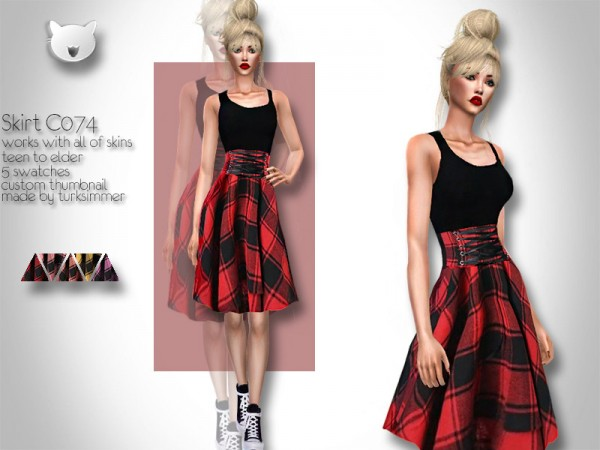 The Sims Resource: Skirt C074 by turksimmer