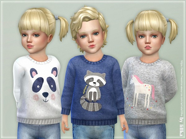 The Sims Resource: Cozy Animal Sweater by lillka