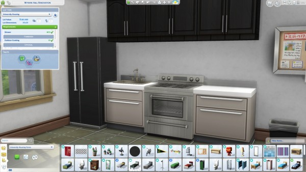 Mod The Sims: Stoves allowed in dorms by dorien922