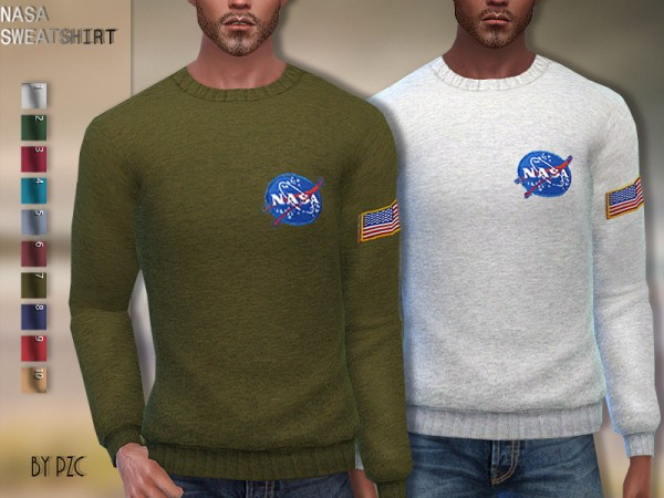 The Sims Resource: Set Autumn Toddler Sweaters and Nasa Sweatshirt by Pinkzombiecupcakes