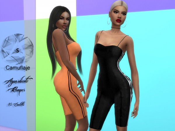 The Sims Resource: Aguardiente Romper by Camuflaje