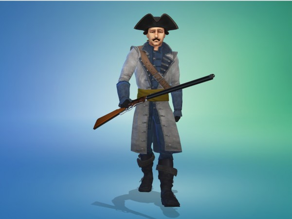 Mod The Sims: 18th Century French Military Uniforms (3 Swatches) by Nutter Butter 1