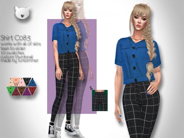 The Sims Resource: Shirt C083 by turksimmer