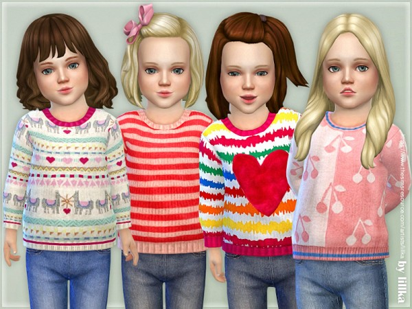 The Sims Resource: Cozy Winter Sweater 02 by lillka
