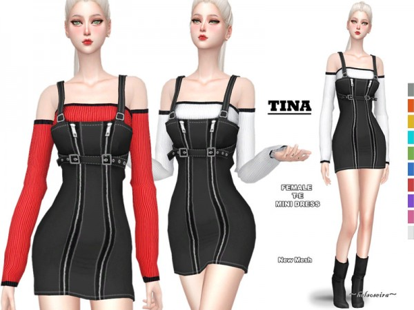 The Sims Resource: TinaMini Dress by Helsoseira