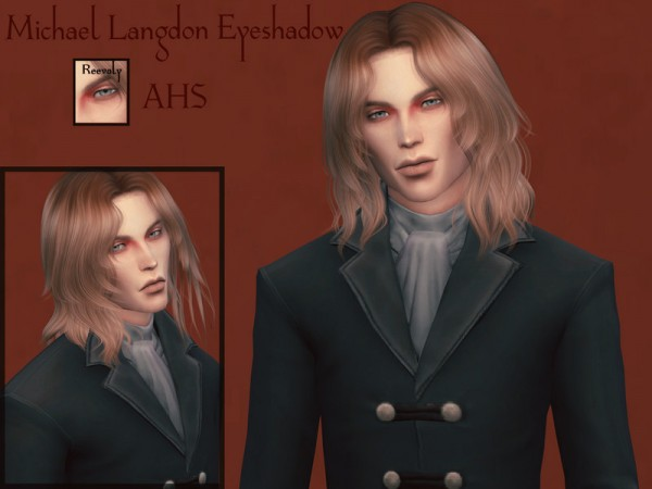 The Sims Resource: Michael Langdon Eyeshadow by Reevaly